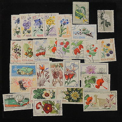 YS-I145 FLOWERS - Romania, Great Selection Of Stamps Used