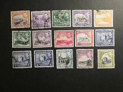 Cyprus 1938 definitives part set Fine Used
