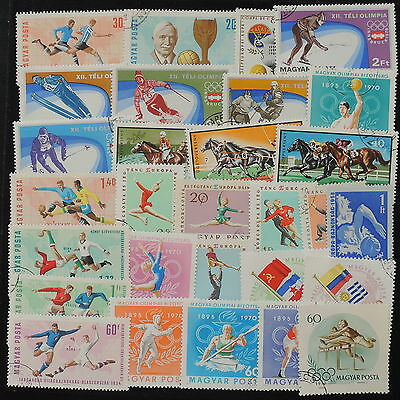 YS-I175 OLYMPIC GAMES - Hungary, Sports, Football, Horses, Great Stamps Used