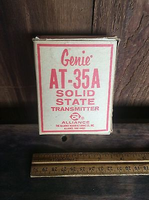 Vintage Genie AT-35A Solid Slate Transmitter With Contents, Untested