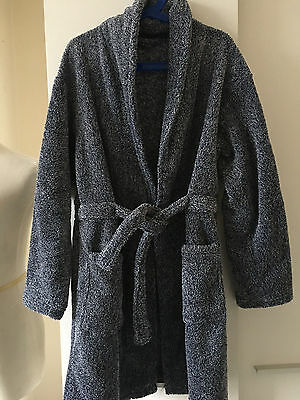 Boys Navy Blue Fluffy Dressing Gown Age 10/11 Years