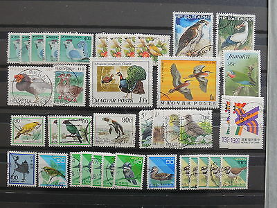 YS-I624 BIRDS - S. Korea, Hungary, Bulgaria, Japan, China, Great Stamps Used