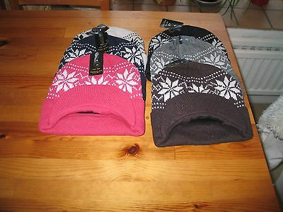 Wholesale  Job Lot Of 6 Ski Hats With Peaks Brand New With Tags