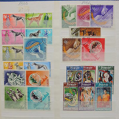 YS-I777 TOGO IND - Lot, Dogs, Paintings, Art, Great Stamps Used