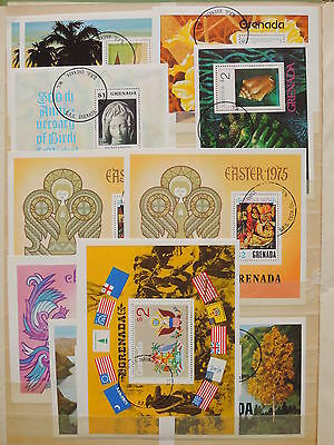 YS-I783 GRENADA IND - Sheets, Great Perf. Sheets, Paintings Used
