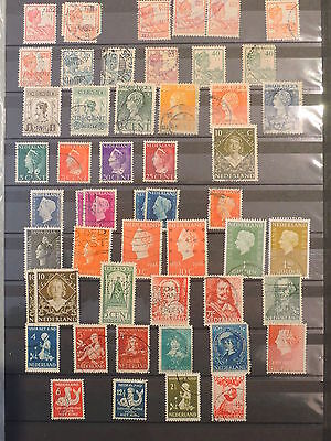 YS-I900 NETHERLANDS - Lot, Great Selection Of Old Stamps Used