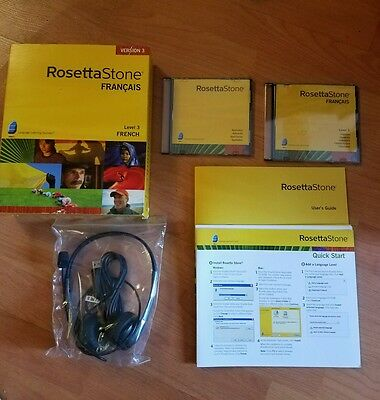 Rosetta Stone French Level 3 Version 3 2007-WITH KEY CODE