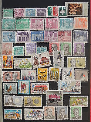 YS-J121 GERMANY/DDR - Birds, Lot Of Old Stamps USED