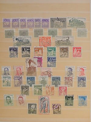 YS-J127 CZECHOSLOVAKIA - Trains, Lot Of Old Stamps USED