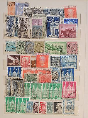 YS-J133 NETHERLANDS - Greece, Lot Of Old Stamps USED