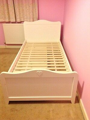 Single White Bed With Storage