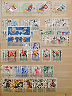 YS-J185 HUNGARY - Space, Lot Of Old Stamps USED