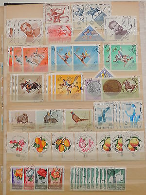 YS-J190 HUNGARY - Flowers, Lot Of Old Stamps USED
