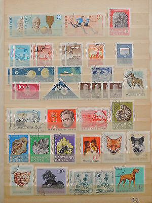 YS-J193 HUNGARY - Football, Lot Of Old Stamps USED