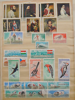 YS-J194 HUNGARY - Birds, Paintings, Space, Sports USED