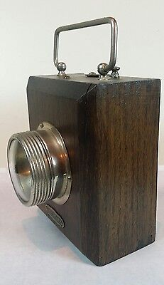 Antique Ww1 Wooden Officers Trench Torch Ever Ready Hand Lantern 1914