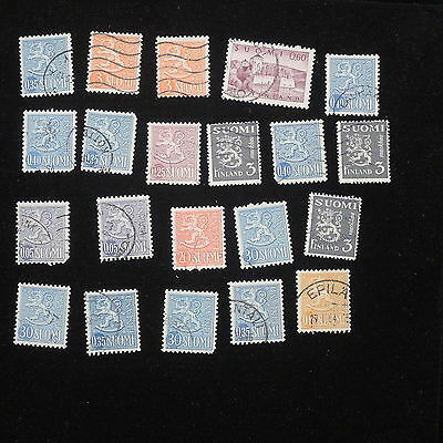 YS-J338 FINLAND - Lot, Old Stamps USED
