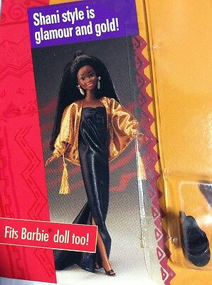 SHANI SIZZLING STYLE FASHIONS 5968 Mattel 1991 NRFB NEW Fits Barbie too Gold