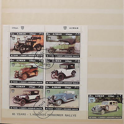 YS-J514 AJMAN - Cars, Sheets And Stamp USED