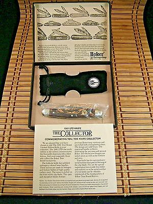 "1981 Boker Solingen Germany Tree Brand Ltd. Edt. ""the Collector""  Stockman Knife"