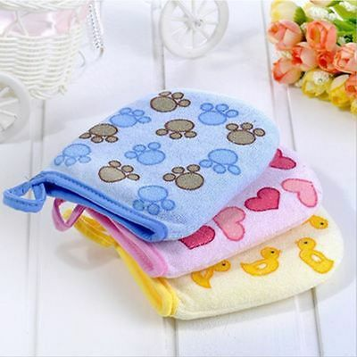 Cotton Cartoon Gloves Rubbing Brush Cloth Baby Wash Towel For Kids Bath Towel