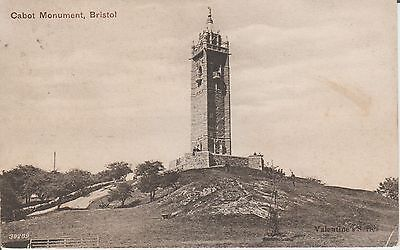 Early Postcard -Bristol - Cabot Monument - Somerset -Real Photo Postcard