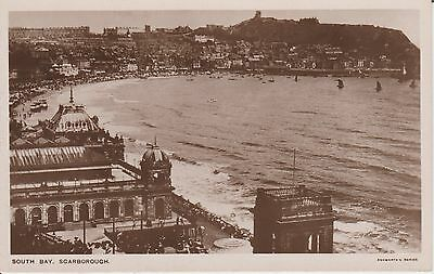 Early Postcard  Scarborough - South Bay - Yorkshire   -Real Photo