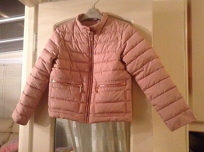 Girls Next pink quilted jacket age 9