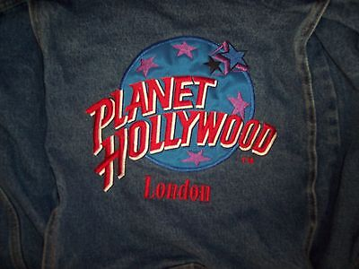 "Planet Hollywood ""london"" Jean Jacket Unisex Childrens Size Xl"