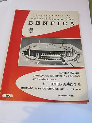 CHARITY SALE !  Featuring EUSEBIO  S L Benfica v Leixoes S C  29/10/1967