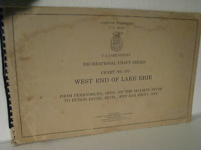 Corps of Engineers, U S Army West End of Lake Erie Chart #370 1963