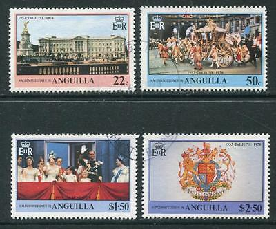 Anguilla: 1978 25th Anniv of Coronation set SG320-3 Fine Used WW295