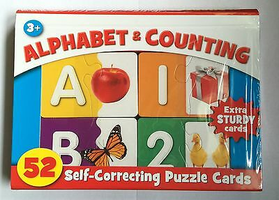 Alphabet & Counting Self Correcting Puzzle Cards