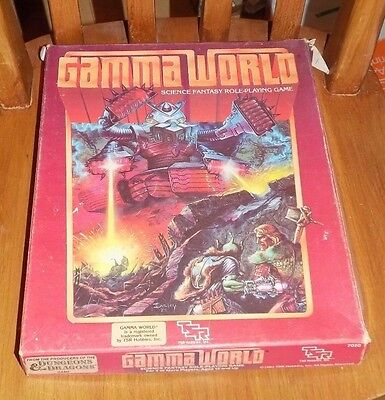 Tsr Gamma World Science Fantasy Role-Playing Game  -Boxed-