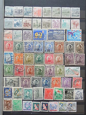 YS-K167 YUGOSLAVIA - Lot, All Different Stamps USED