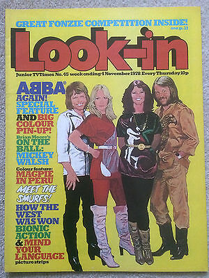 Look In Magazine 4 Nov 1978 #45 Abba