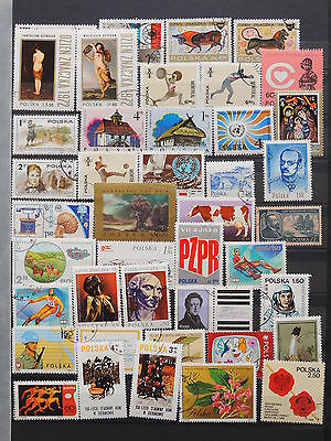 YS-K356 POLAND - Lot, All Different Stamps USED