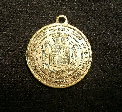 Queen Alexander King Edward V11 Married March 10th 1863 Accession Medalon Coins