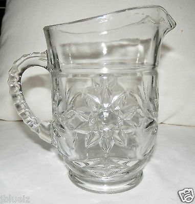 Vintage Early American EAPC 18 oz #744 Syrup Juice Water Pitcher Glass