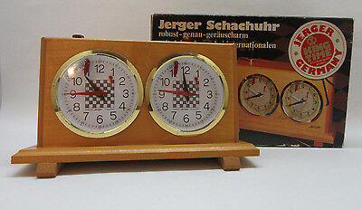 Vintage Jerger Schachuhr Chess Clock In Original Box Germany