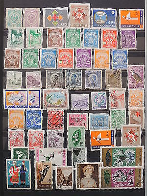 YS-K827 YUGOSLAVIA - Lot, All Different Stamps USED