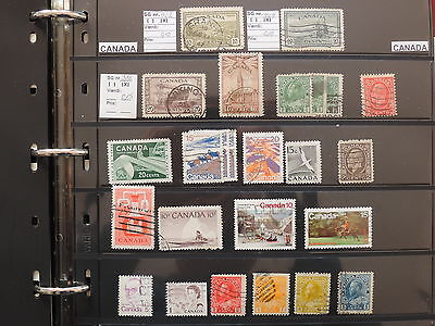 YS-K874 CANADA LOT - Lot, Old Stamps USED