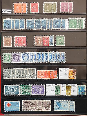 YS-K875 CANADA LOT - Lot, All Different Stamps USED