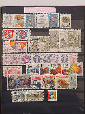 YS-K963 CZECHOSLOVAKIA - Space, Lot Of Old Stamps USED