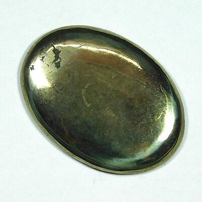 48.85Cts 100% NATURAL TOP PYRITE OVAL 33X25 LOOSE CAB GEMSTONE PL161