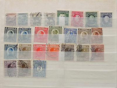 YS-L507 SLOVAKIA - Croatia, Selection, Old Stamps USED