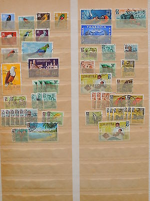 YS-L510 BRITISH KUT - Birds, Lot Of Great Stamps USED