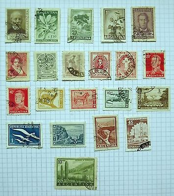 Argentina.  collection of 21 stamps.      C