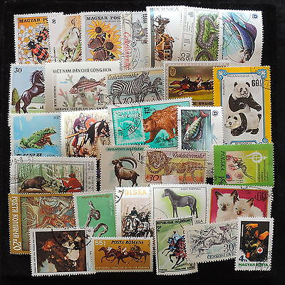 YS-L800 WILD ANIMALS - Vietnam, Czechoslovakia,Poland, Romania USED