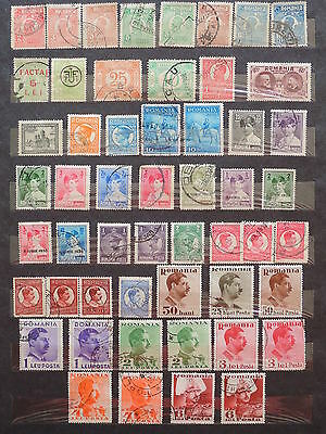 YS-L888 ROMANIA - Lot, Old Stamps USED